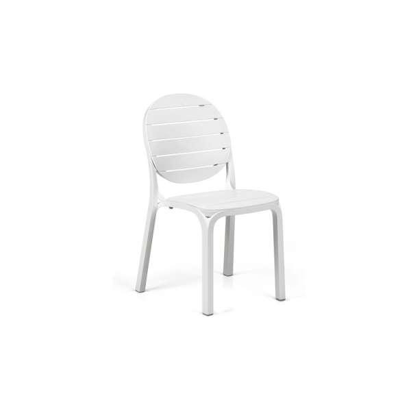 Chaise de jardin en polypropylène blanc - Erica - 3