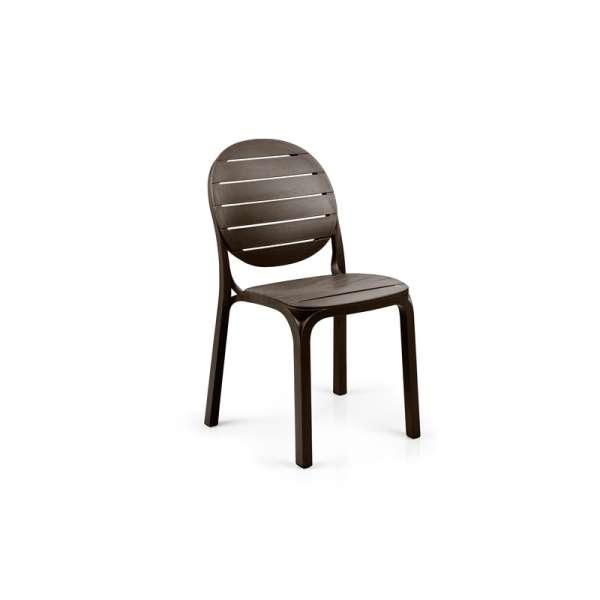 Chaise de jardin en polypropylène café - Erica - 147