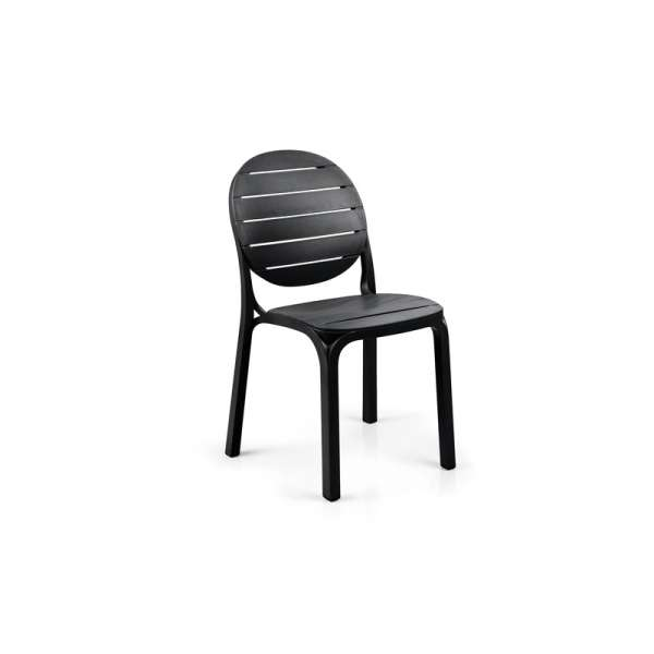 Chaise de jardin en polypropylène anthracite - Erica - 207