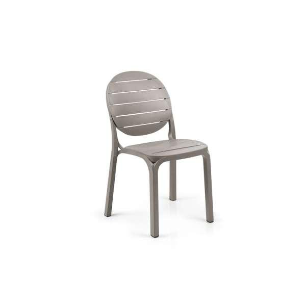 Chaise de jardin en polypropylène taupe - Erica - 230