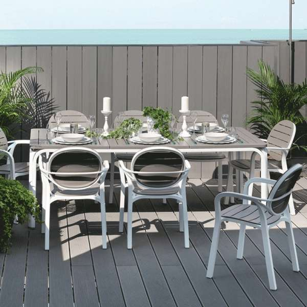 Table de jardin extensible en polypropylène et aluminium - Alloro