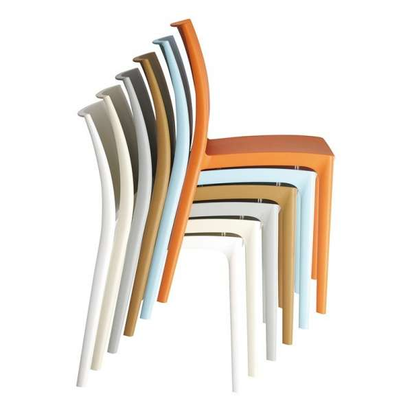 Chaise de jardin en polypropylène empilable - Maya - 18