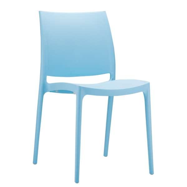 Chaise de jardin en polypropylène bleu - Maya - 15