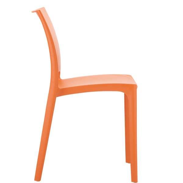 Chaise de jardin polypropylène orange- Maya - 10