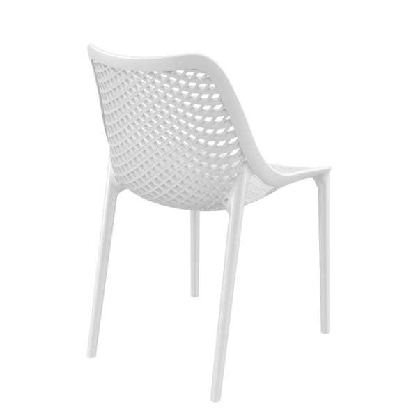 Chaise de jardin moderne ajourée en plastique blanc - Air - 21