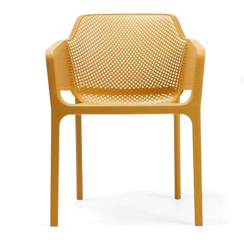 Fauteuil de terrasse moderne en polypropyl ne net 4 for Baton de chaise synonyme