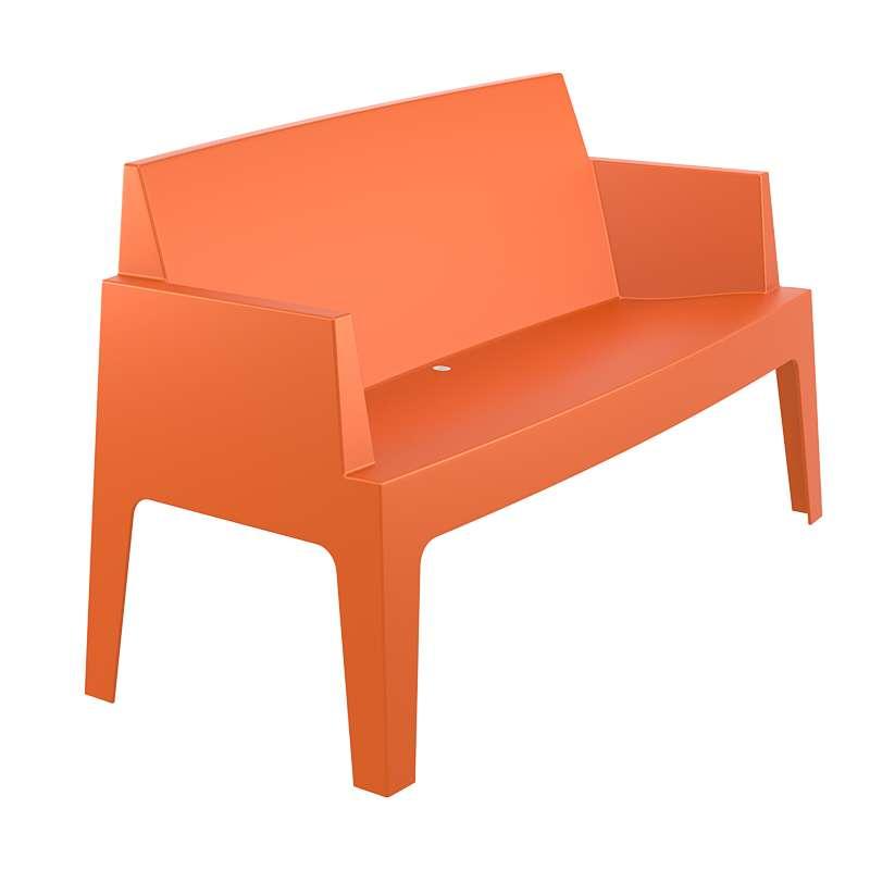 banquette de jardin en polypropyl ne box sofa 4 pieds. Black Bedroom Furniture Sets. Home Design Ideas