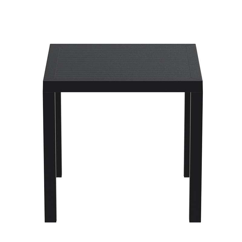 table de terrasse carr e en r sine ares 4 pieds. Black Bedroom Furniture Sets. Home Design Ideas