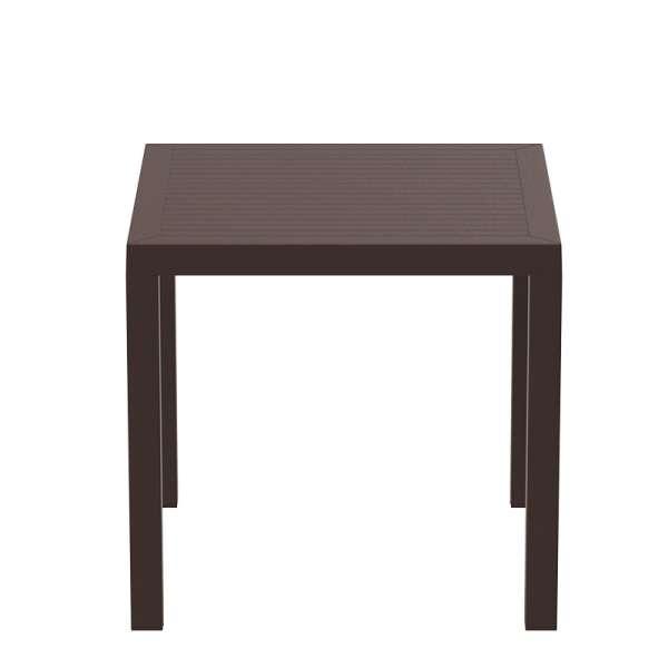 Table de terrasse carrée marron - Ares - 9