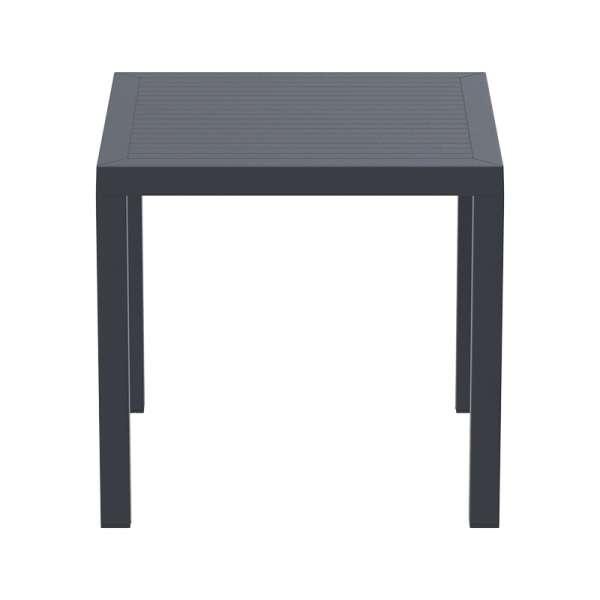 Table de jardin carrée en polypropylène - Ares - 11