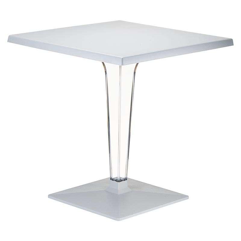 Table de jardin carr e en polycarbonate et stratifi ice for Table exterieur 60x60