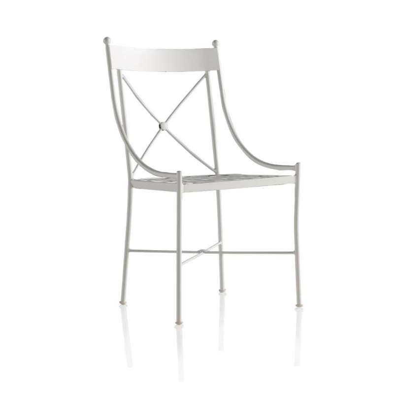Chaise de jardin en fer forg paris 4 pieds tables for Chaises de jardin en fer