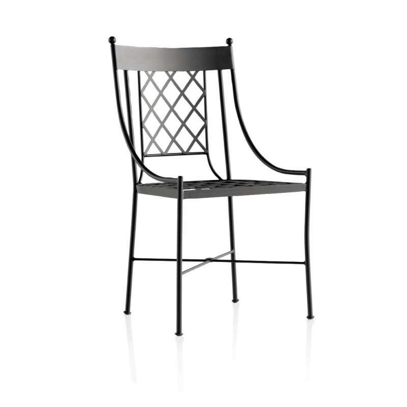 Chaise de jardin en fer forg marsella 4 pieds for Chaises de jardin en fer