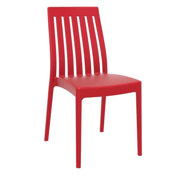 Chaise de jardin rouge en polypropylène - Soho - 3