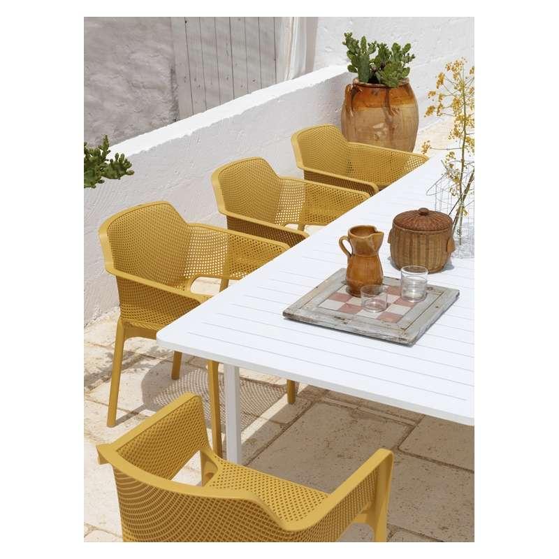salon de jardin en polypropyl ne et aluminium alloro net 4. Black Bedroom Furniture Sets. Home Design Ideas