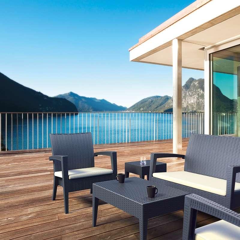 table basse rectangulaire de jardin miami 4 pieds tables chaises et tabourets. Black Bedroom Furniture Sets. Home Design Ideas