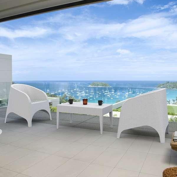 table basse de jardin en résine - Miami - 4
