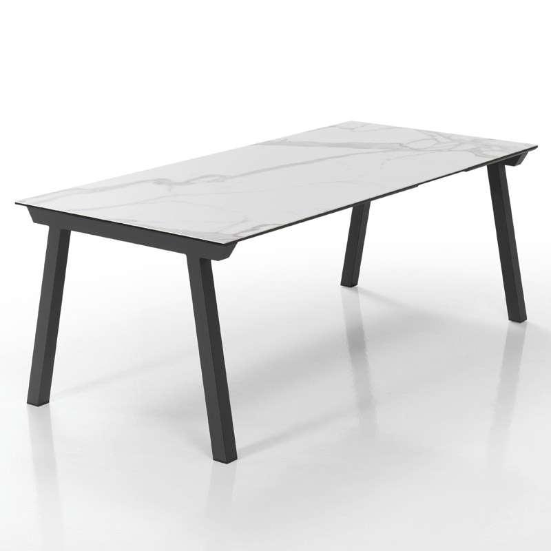 Table moderne extensible en c ramique benidorm for Table en ceramique rectangulaire