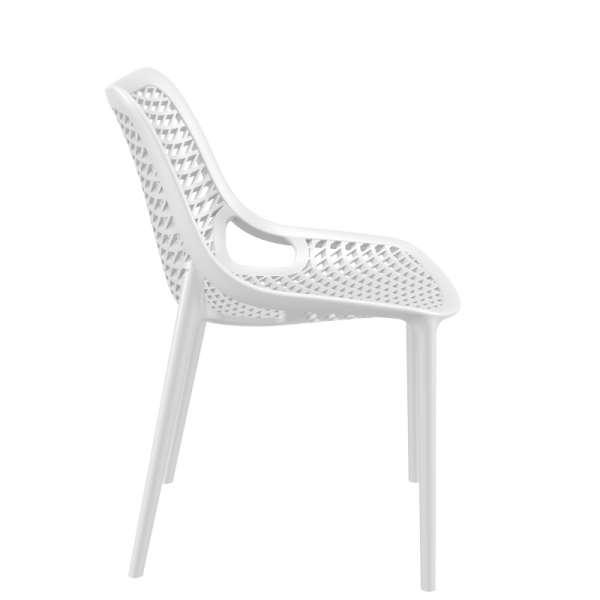 Chaise blanche moderne ajourée en polypropylène - Air - 21