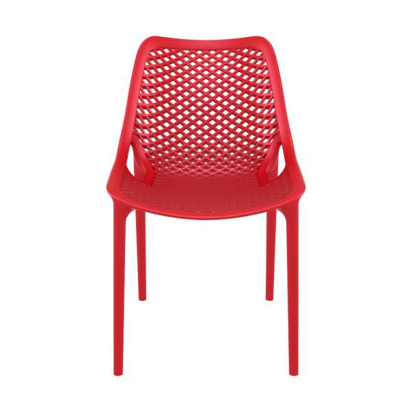 Chaise rouge moderne ajourée en polypropylène - Air - 7