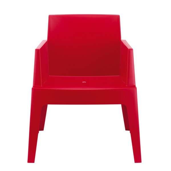 Fauteuil moderne en polypropylène rouge - Box - 3