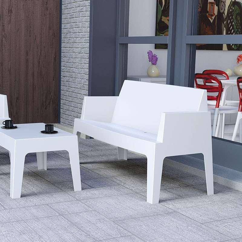 banquette de jardin en polypropyl ne box sofa 4. Black Bedroom Furniture Sets. Home Design Ideas