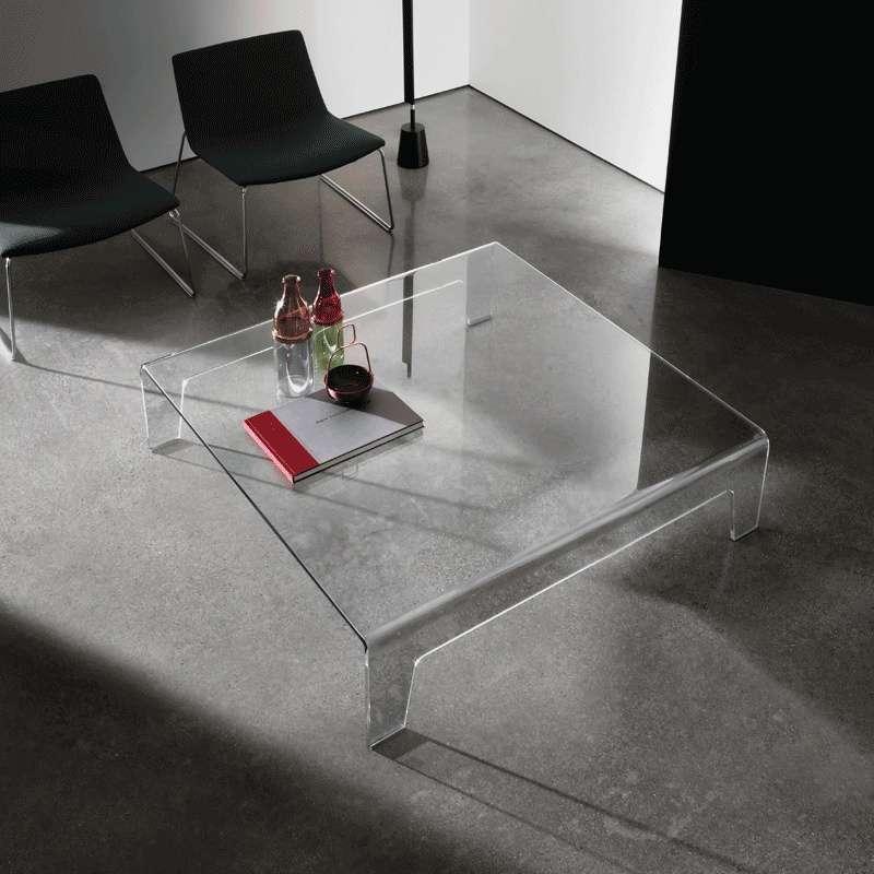 Table basse design carrée en verre - Frog Sovet®  4-pieds.com