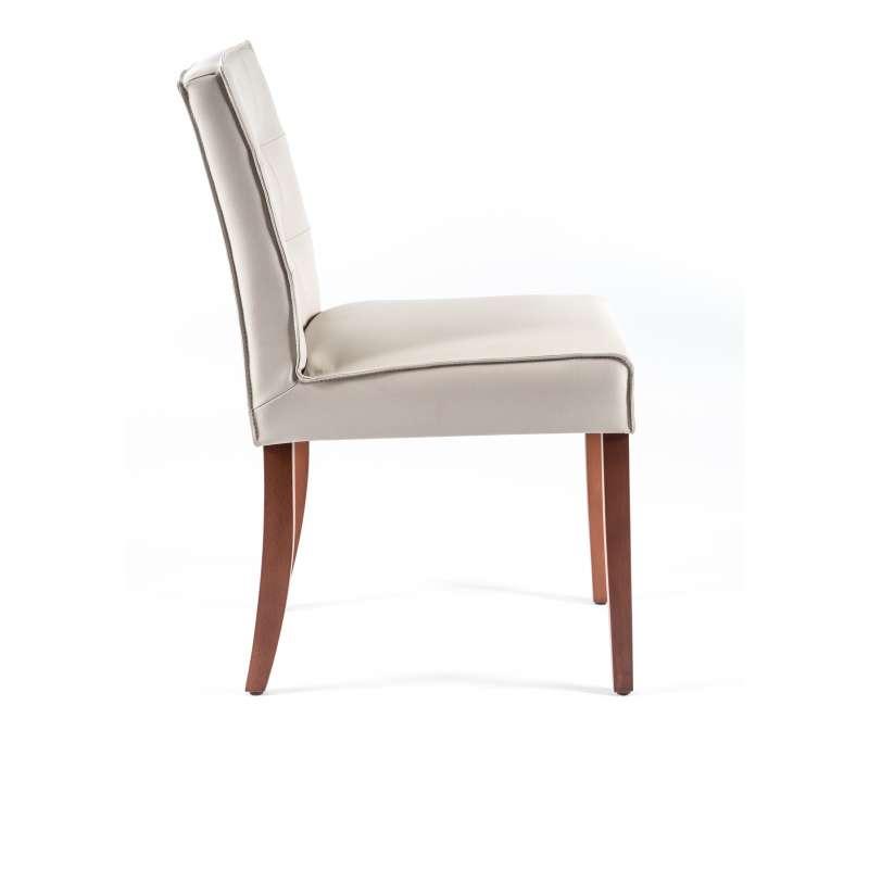 chaise matelass e en synth tique et bois carpe 2 4 pieds tables chaises et tabourets. Black Bedroom Furniture Sets. Home Design Ideas