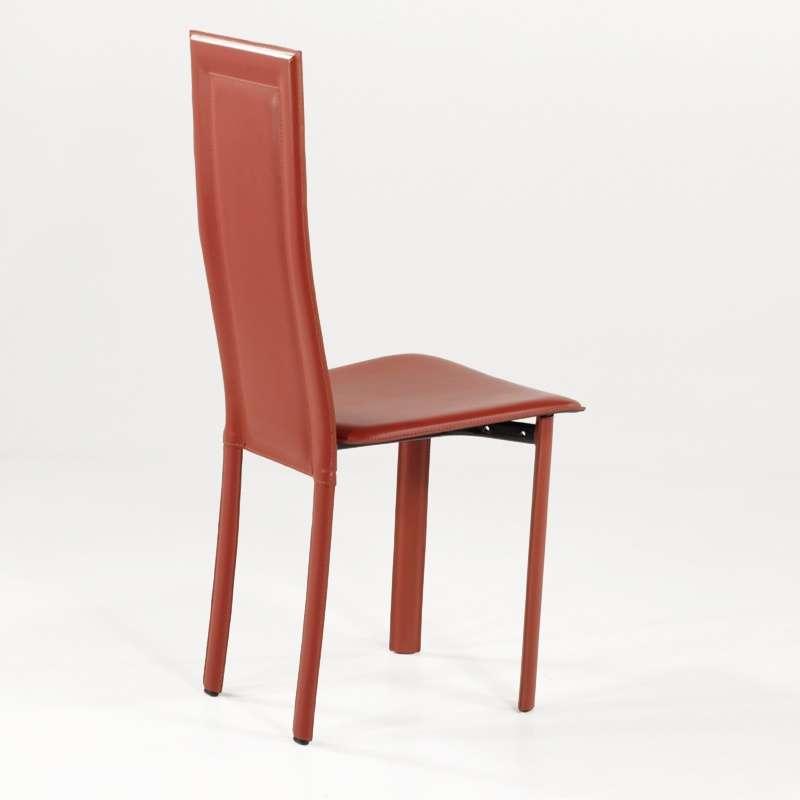 Chaise de salle manger en cro te de cuir tess 4 - Chaise de salle a manger en cuir ...