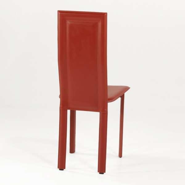 Chaise de salle à manger en cuir - Tess 4 - 4