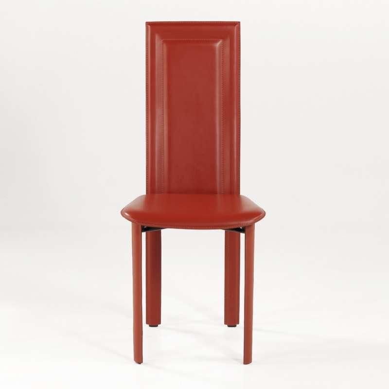 Chaise de salle à manger en croûte de cuir - Tess   4 Pieds ...