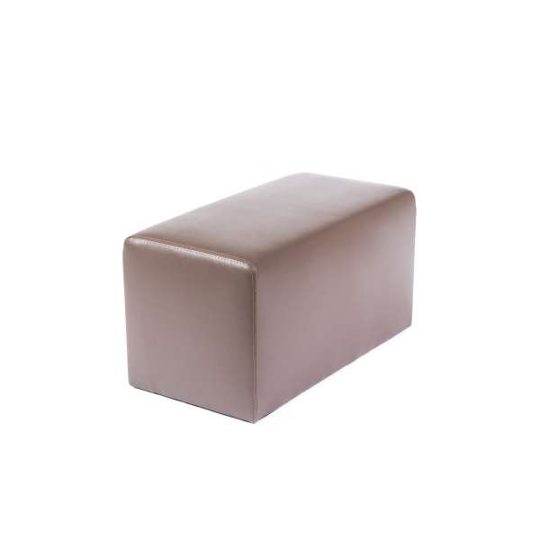Pouf rectangulaire contemporain marron - Max Q78 - 18