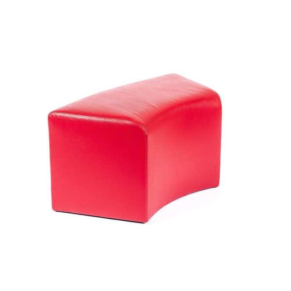Pouf rectangulaire courbé contemporain rouge - Max C1-8 - 7