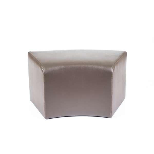 Pouf rectangulaire courbé marron - Max C1-8 - 10