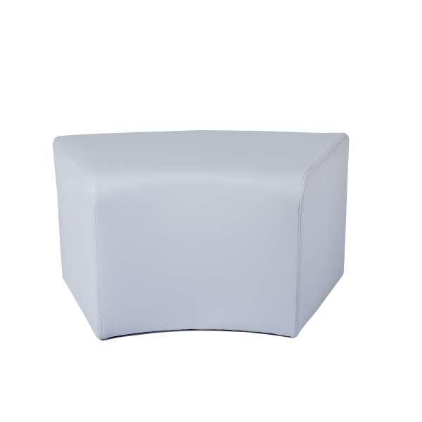 Pouf rectangulaire courbé gris - Max C1-8 - 5
