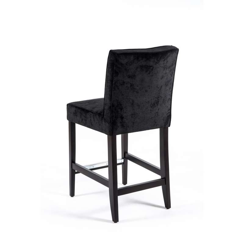 Tabouret snack en tissu et bois BarCarpe 4 Pieds tables, chaises et tabourets # Tabouret Snack Bois