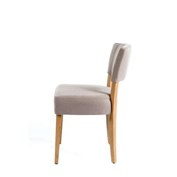 Chaise moderne matelassée en tissu et bois - Steffi - 3