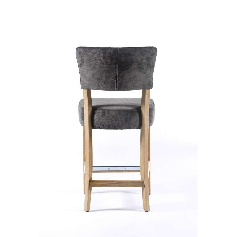 tabouret snack en tissu et bois barsteffi 4 pieds. Black Bedroom Furniture Sets. Home Design Ideas