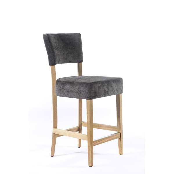 Tabouret snack en tissu et bois u2013 BarSteffi 4 Pieds tables, chaises et tabourets # Tabouret Snack Bois