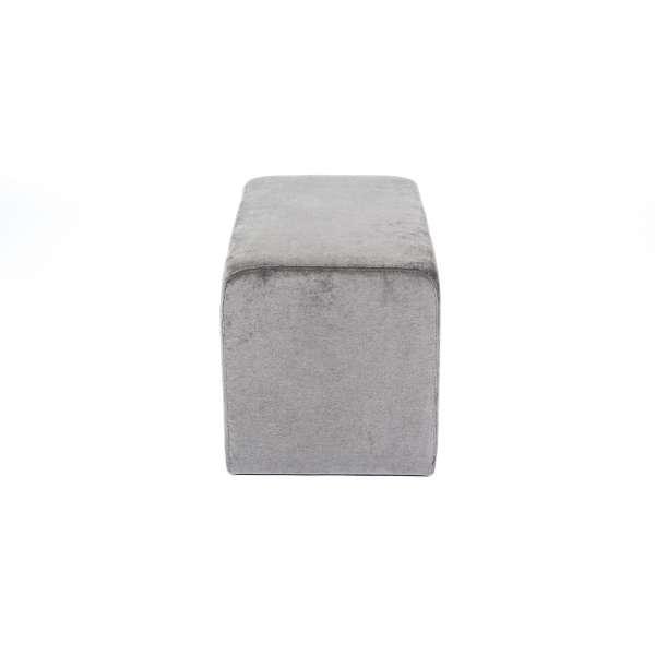Pouf rectangulaire moderne en tissu gris anthracite - Max Q78 - 5