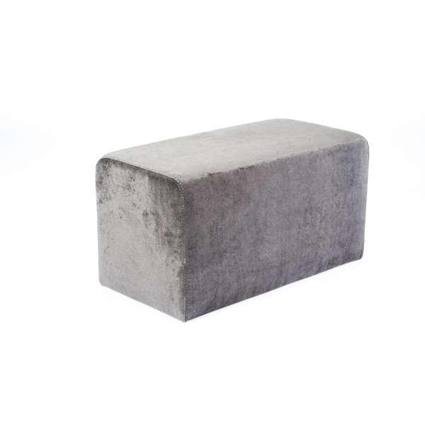 Pouf rectangulaire contemporain en tissu gris anthracite - Max Q78 - 6