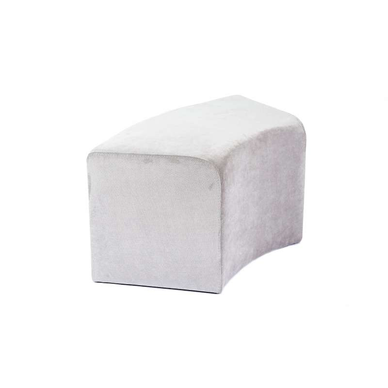 pouf rectangulaire courb en tissu max c1 8 4 pieds tables chaises et tabourets. Black Bedroom Furniture Sets. Home Design Ideas