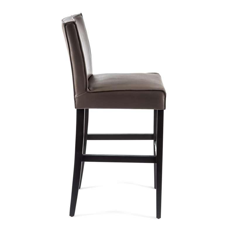 Tabouret de bar en synth tique et bois barcarpe 4 pieds tables chaises - Tabouret de bar contemporain ...