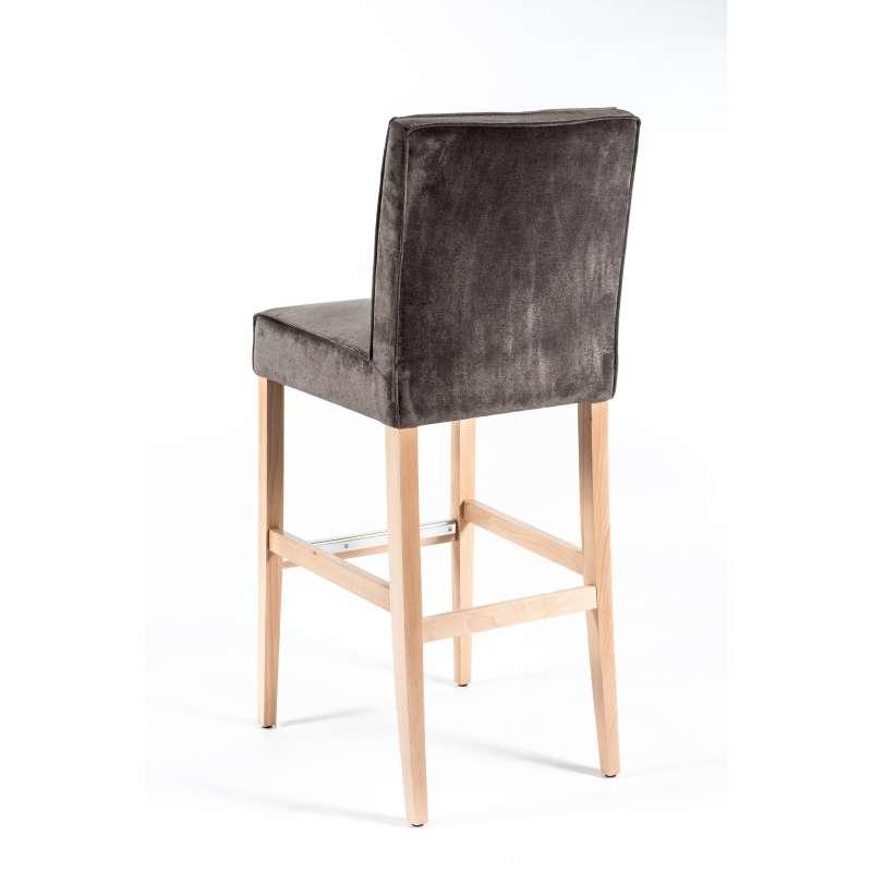 Tabouret De Bar Bois Et Tissu - Tabouret de bar en tissu et bois BarCarpe 4 Pieds tables, chaises et tabourets