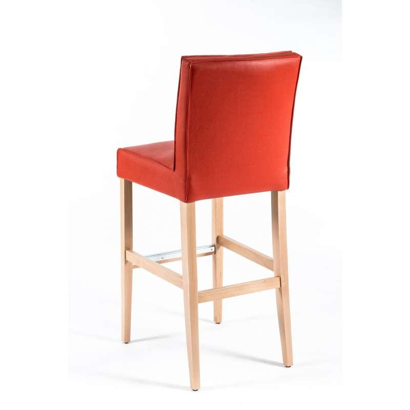 tabouret de bar matelass en synth tique et bois barcarpe 2 4 pieds tables chaises et. Black Bedroom Furniture Sets. Home Design Ideas