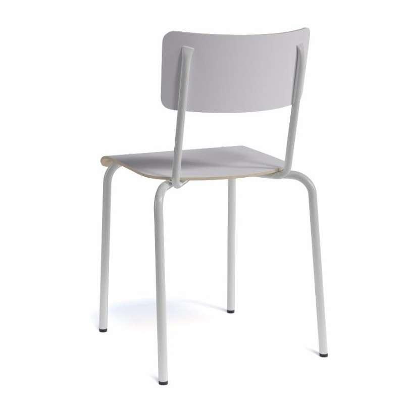 Chaise vintage en m tal et bois coll ge 4 pieds for Chaise vintage bois