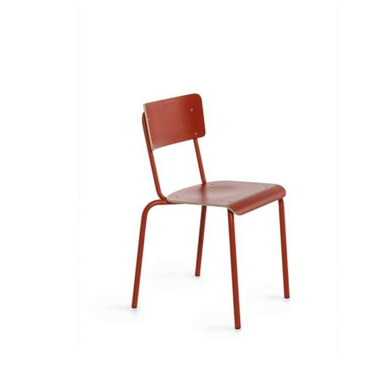chaise vintage en m tal et bois coll ge 4 pieds. Black Bedroom Furniture Sets. Home Design Ideas