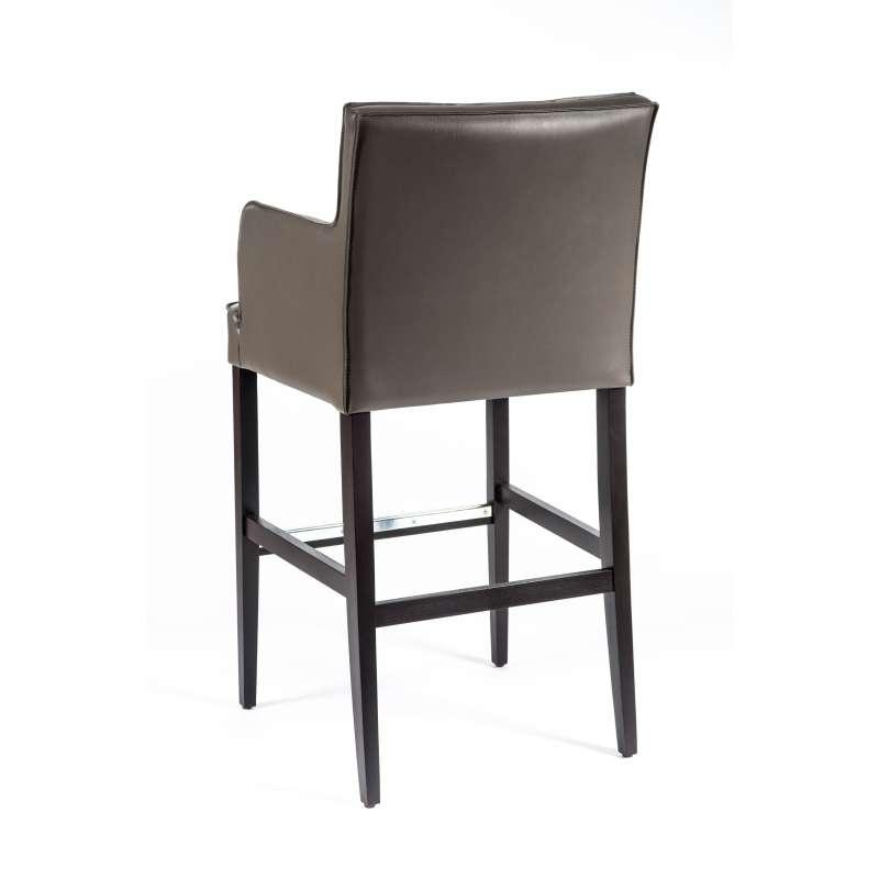 tabouret de bar en synth tique et bois bardiem 2 4. Black Bedroom Furniture Sets. Home Design Ideas