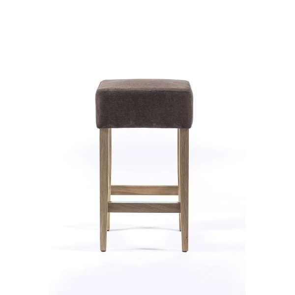 tabouret snack sans dossier en tissu et bois barmax 4. Black Bedroom Furniture Sets. Home Design Ideas