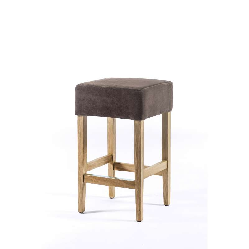 tabouret snack en tissu et bois barmax 4 pieds tables chaises et tabourets. Black Bedroom Furniture Sets. Home Design Ideas
